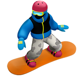 Snowboarder Emoji on Apple macOS and iOS iPhones