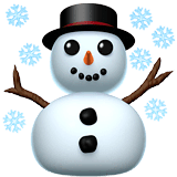 Snowman Emoji on Apple macOS and iOS iPhones