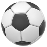 Ballon de foot sur Apple macOS et iOS iPhones