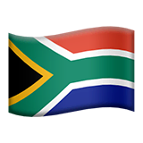 Flag: South Africa Emoji on Apple macOS and iOS iPhones