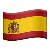 Flag: Spain Emoji on Apple macOS and iOS iPhones