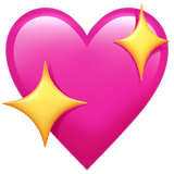 Sparkling Heart Emoji on Apple macOS and iOS iPhones