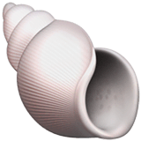 Spiral Shell Emoji on Apple macOS and iOS iPhones