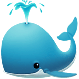 Spouting Whale Emoji on Apple macOS and iOS iPhones