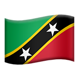 Bandiera di Saint Kitts e Nevis su Apple macOS e iOS iPhones