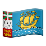 Flag: St. Pierre & Miquelon Emoji on Apple macOS and iOS iPhones