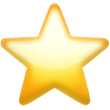 Star Emoji on Apple macOS and iOS iPhones