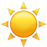 Sun Emoji on Apple macOS and iOS iPhones