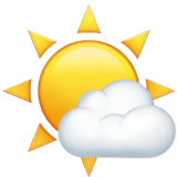 Sun Behind Small Cloud Emoji on Apple macOS and iOS iPhones
