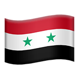 Bandera de Siria en Apple macOS y iOS iPhones