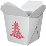 Takeout Box Emoji on Apple macOS and iOS iPhones