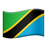 Flag: Tanzania Emoji on Apple macOS and iOS iPhones