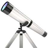 Telescope Emoji on Apple macOS and iOS iPhones