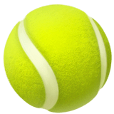 Pelota de tenis en Apple macOS y iOS iPhones