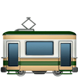 Tram Car Emoji on Apple macOS and iOS iPhones