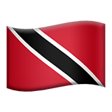 Bandiera di Trinidad e Tobago su Apple macOS e iOS iPhones