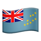 Flag: Tuvalu Emoji on Apple macOS and iOS iPhones