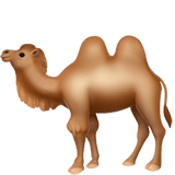 Two-Hump Camel Emoji on Apple macOS and iOS iPhones