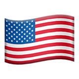 Flag: United States Emoji on Apple macOS and iOS iPhones
