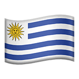 Flag: Uruguay Emoji on Apple macOS and iOS iPhones