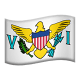 Flag: U.S. Virgin Islands Emoji on Apple macOS and iOS iPhones