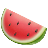 Watermelon Emoji on Apple macOS and iOS iPhones