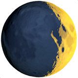 Waxing Crescent Moon Emoji on Apple macOS and iOS iPhones