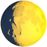 Waxing Gibbous Moon Emoji on Apple macOS and iOS iPhones