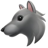 Wolf Emoji on Apple macOS and iOS iPhones