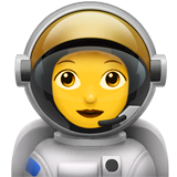 Woman Astronaut Emoji on Apple macOS and iOS iPhones