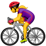 Woman Biking Emoji on Apple macOS and iOS iPhones