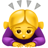 Woman Bowing Emoji on Apple macOS and iOS iPhones