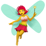 Woman Fairy Emoji on Apple macOS and iOS iPhones