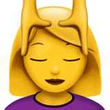 Woman Getting Massage Emoji on Apple macOS and iOS iPhones