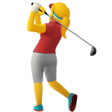 Woman Golfing Emoji on Apple macOS and iOS iPhones