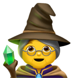 Woman Mage Emoji on Apple macOS and iOS iPhones