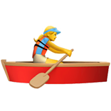 Woman Rowing Boat Emoji on Apple macOS and iOS iPhones