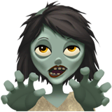 Woman Zombie Emoji on Apple macOS and iOS iPhones