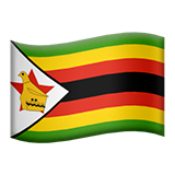 Flag: Zimbabwe Emoji on Apple macOS and iOS iPhones