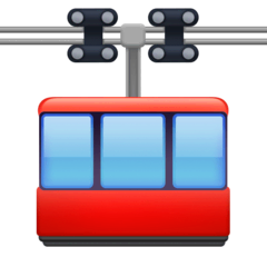 Aerial Tramway Emoji on Facebook