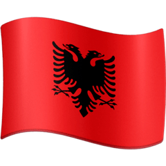 Flag: Albania Emoji on Facebook