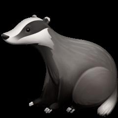 Badger Emoji on Facebook