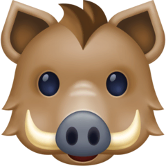 Boar Emoji on Facebook
