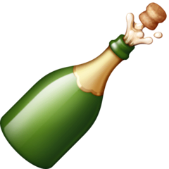 Bottle With Popping Cork Emoji on Facebook
