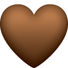 Brown Heart Emoji on Facebook