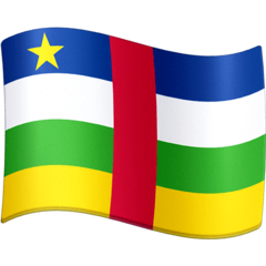 Flag: Central African Republic Emoji on Facebook
