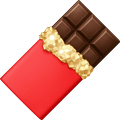 Chocolate Bar Emoji on Facebook