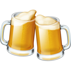 Clinking Beer Mugs Emoji on Facebook