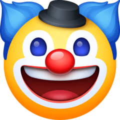 Clown Face Emoji on Facebook