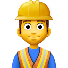 Construction Worker Emoji on Facebook